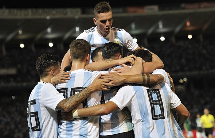 Argentina venció 2-0 México (Foto: EFE)