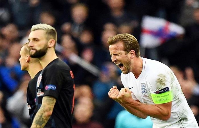 Harry Kane celebra el triunfo inglés. Foto: EFE