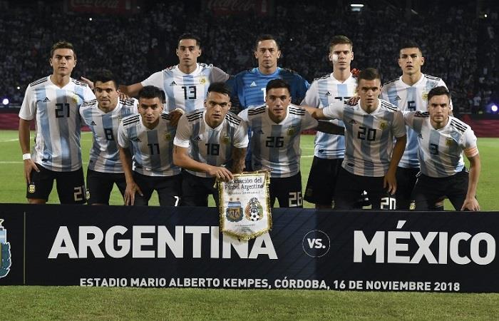 La nueva Selección Argentina. (FOTO: EFE)