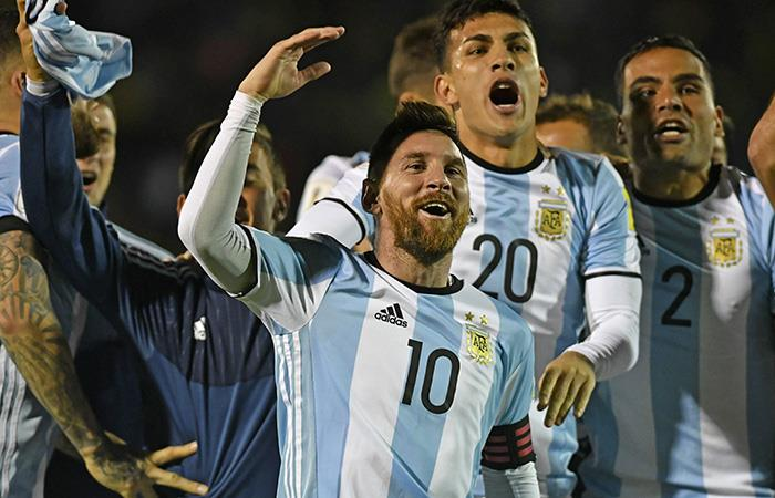 Lionel Messi celebra con la Selección Argentina (Foto: EFE)