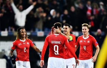 Suiza saca un gran triunfo al vencer a Bélgica por goleada