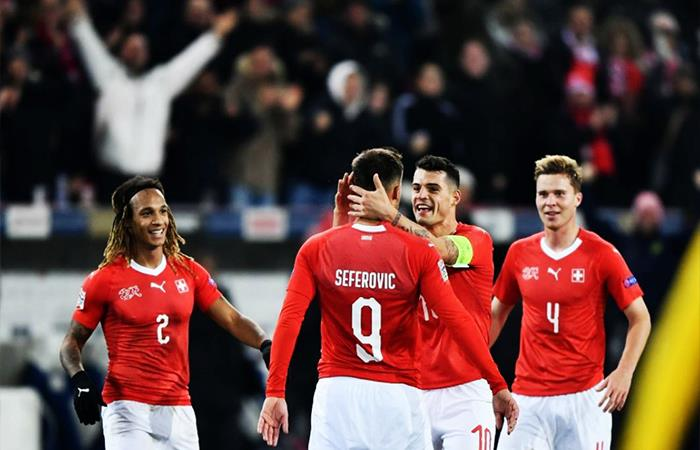 Suiza vence 5-2 a Bélgica (Foto: Twitter)