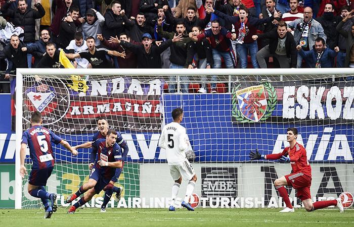 Eibar venció 3-0 Real Madrid (Foto: Twitter)