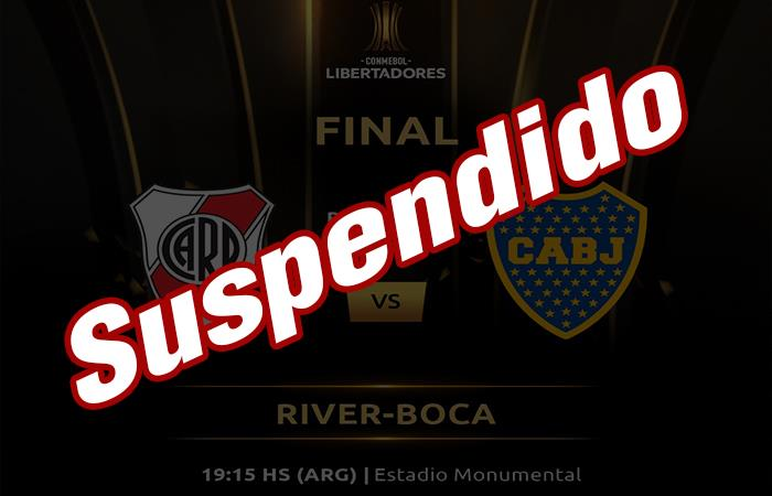 River Plate vs Boca Juniors suspendido (Foto: Twitter)