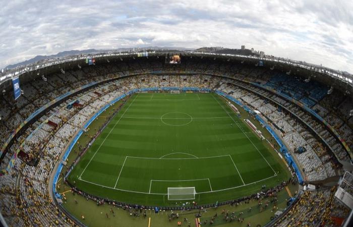 El Estadio Mineirao de Belo Horizonte podría ser la nueva sede de la final. Foto: AFP