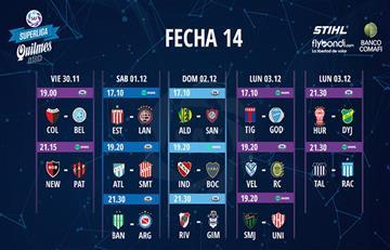 La fecha 14 de la Superliga