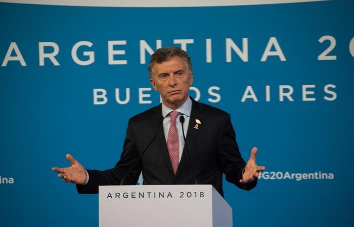 Mauricio Macri en la cumbre del G-20. Foto: AFP
