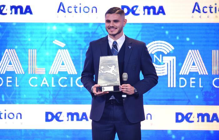 Mauro Icardi fue premiado como el mejor jugador de la Liga Italiana en el 2018. Foto: AFP