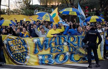 Banderazo de Boca Juniors en Madrid