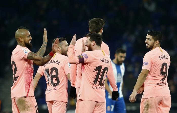 Barcelona ganó y continúa en la punta de La Liga. Foto: AFP
