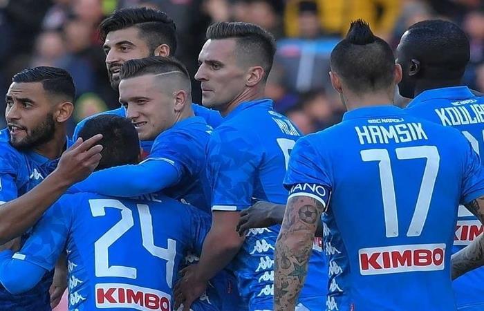 El Napoli aplastó 4 a 0 al Friosinone. Foto: AFP