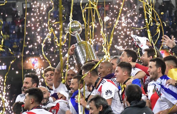 River venció 3 a 1 a Boca en la vuelta de la final y conquistó su cuarta Copa Libertadores. Foto: AFP