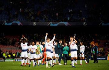 Tottenham se clasificó luego de empatar con el Barcelona