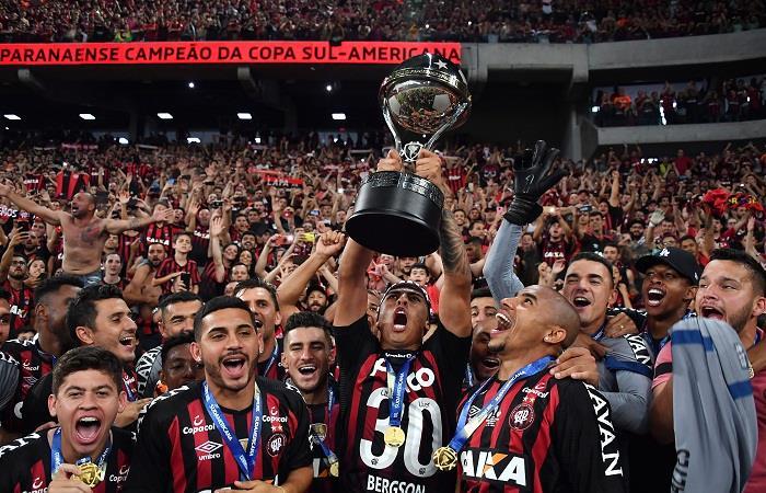 Primer título internacional para el club brasileño. Foto: AFP