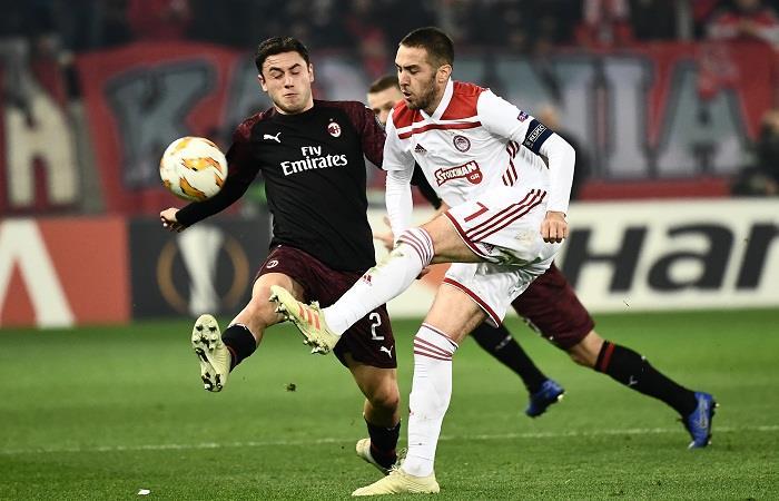El Milan quedó eliminado de la Europa League y sigue sin poder encontrar el rumbo. Foto: AFP