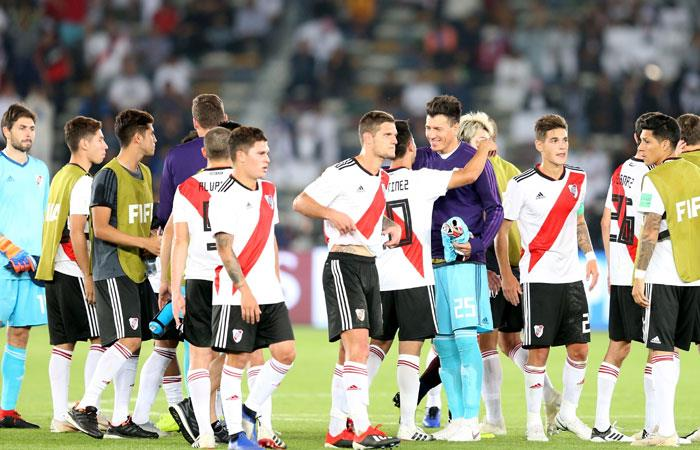 River Plate celebra la victoria ante Kashima Antlers. Foto: EFE