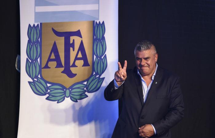 'Chiqui' Tapia, presidente de la AFA. Foto: AFP