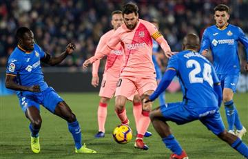 Messi marca en primer partido del año de Barcelona