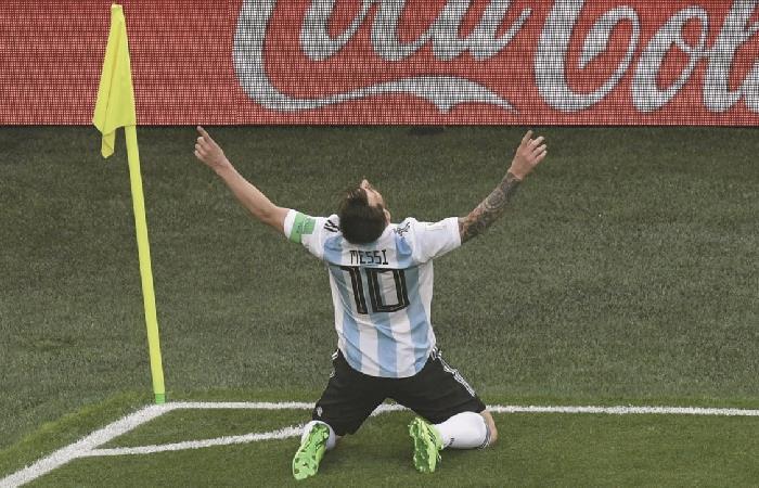 Messi en el Mundial de Rusia 2018. Foto: AFP