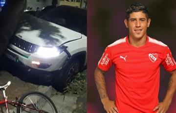 Accidente de auto tiene en problemas a Alan Franco, de Independiente