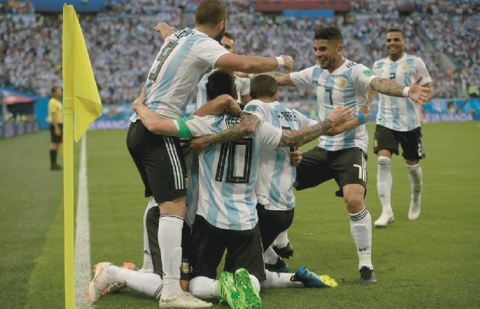 Argentina durante el Mundial de Rusia 2018. Foto: AFP