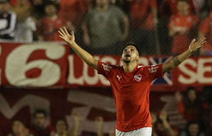 Martín Benítez, jugador de Independiente de Avellaneda. Foto: AFP