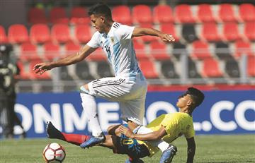 Argentina cayó ante Ecuador en el Sudamericano Sub 20