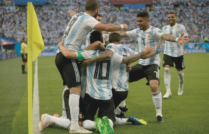 Argentina jugará su primer partido ante Colombia. Foto: AFP