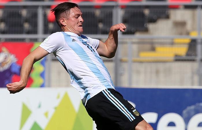 Aníbal Moreno, jugador de la Sub 20. Foto: AFP