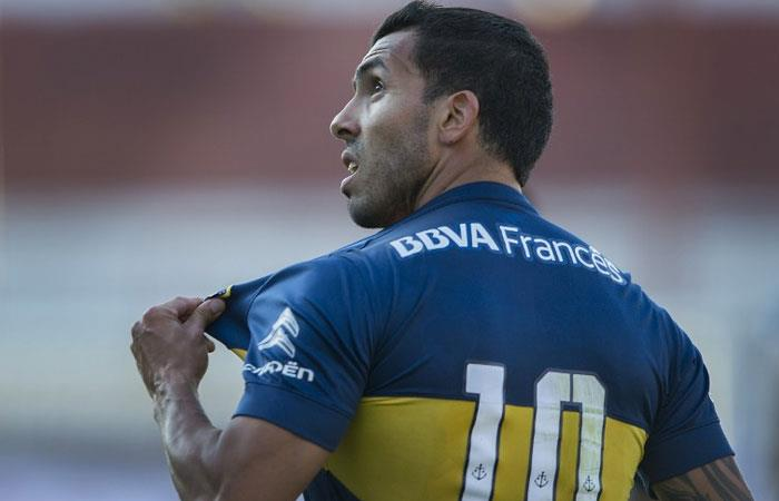 Carlos Tévez, delantero de Boca Juniors. Foto: AFP