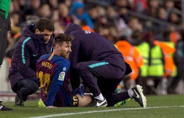 Messi tiene en vilo por lesión a Barcelona, previo al clásico ante Real Madrid