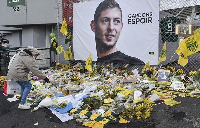 El homenaje de Nantes a Sala. Foto: AFP