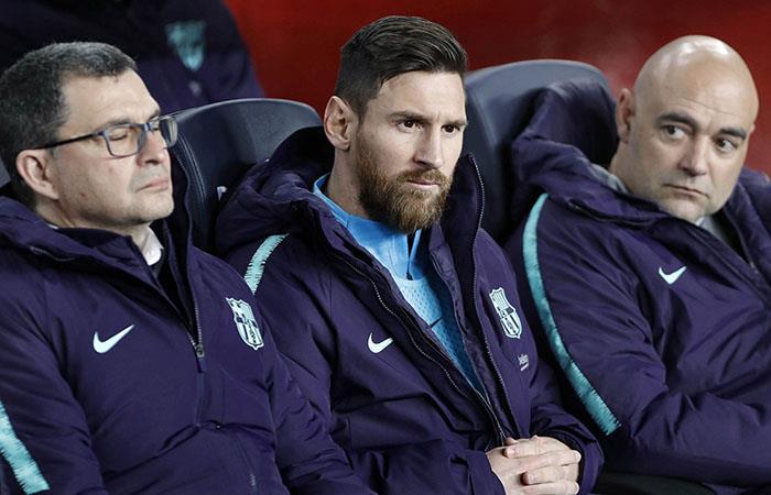 Lionel Messi ingresó en el segundo tiempo y no pudo marcar la diferencia (Foto:EFE)