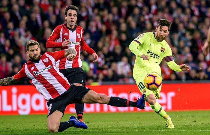 Barcelona cede puntos en Bilbao con la presencia de Messi