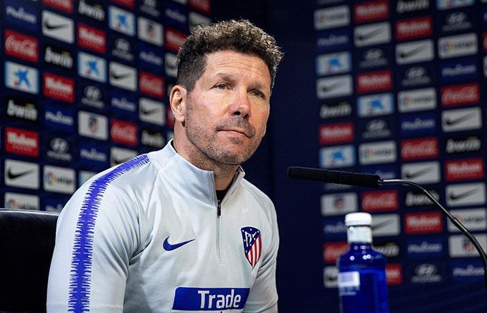 Simeone, enfocado en lo que viene para su Atlético. Foto: EFE