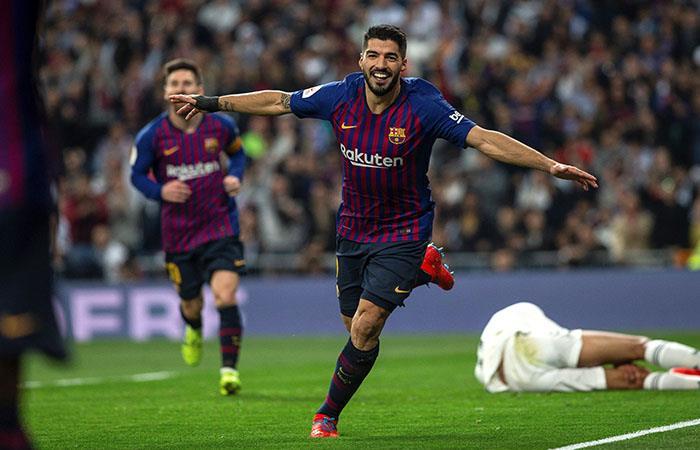 Noche soñada. Suárez marcó dos tantos y provocó otro. Foto: EFE