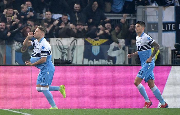 Immobile celebra su gol. Foto: AFP