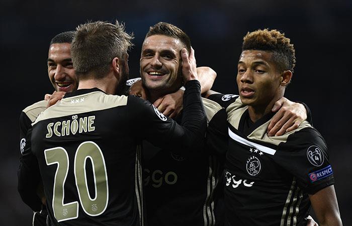 Dusan Tadic, el hombre de la noche histórica para el Ajax. Foto: AFP