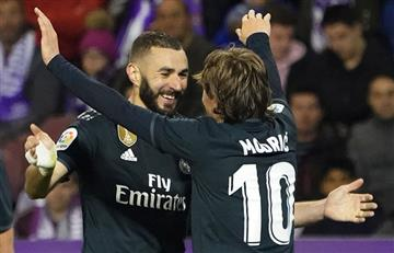 Real Madrid se recuperó y goleó al Valladolid