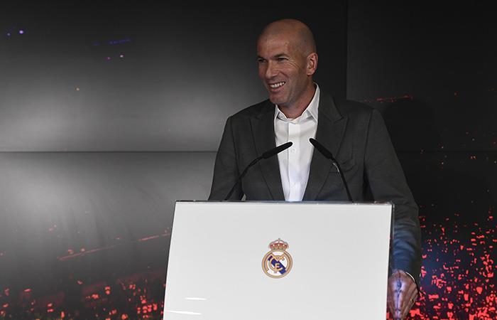 Zidane, feliz por su regreso. (Foto: AFP)