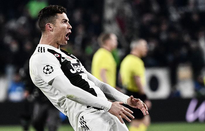 Ronaldo y su costumbre de marcar en Champions. Foto: AFP