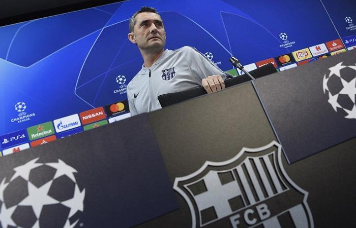 Valverde, en conferencia. Foto: AFP