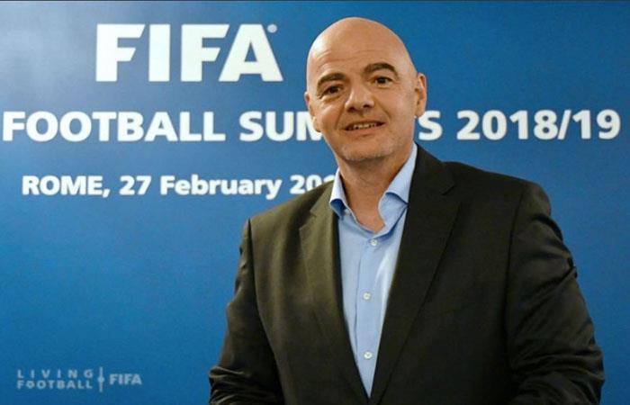 Gianni Infantino quiere 48 Selecciones en Qatar 2022. Foto: AFP