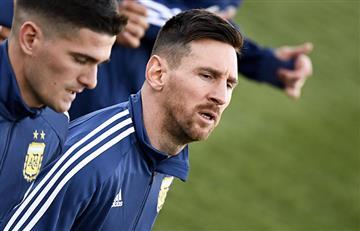 Messi, el más buscado en el entrenamiento de la Selección