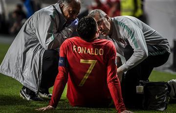 Cristiano Ronaldo salió lesionado y encendió las alarmas