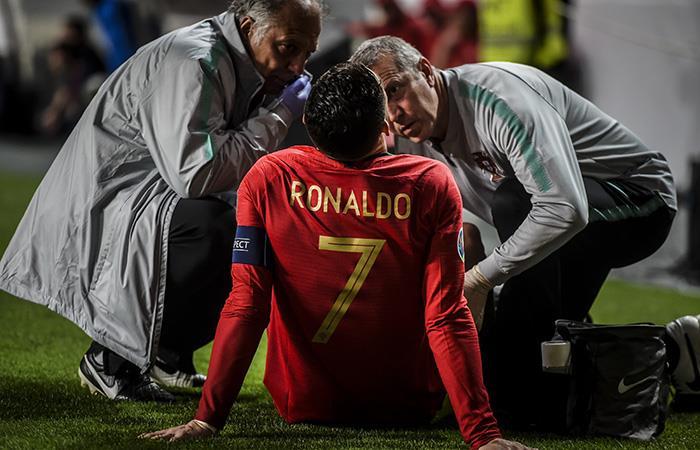Se lesionó Cristiano Ronaldo