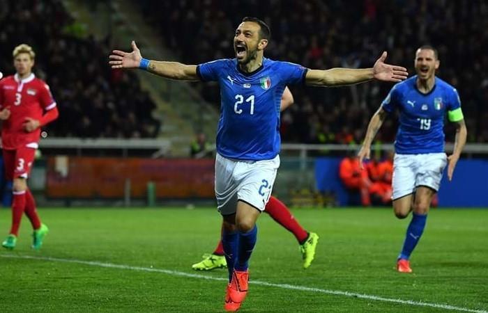 Italia ganó y Quagliarella marcó un récord. (Foto: AFP)