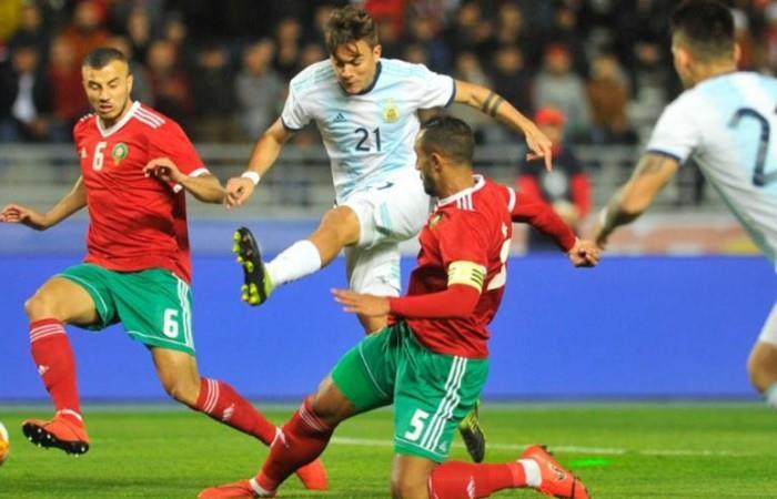 Dybala no tuvo un buen partido ante Marruecos. Foto: AFP
