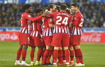 Atlético de Madrid goleó y se afirma como escolta
