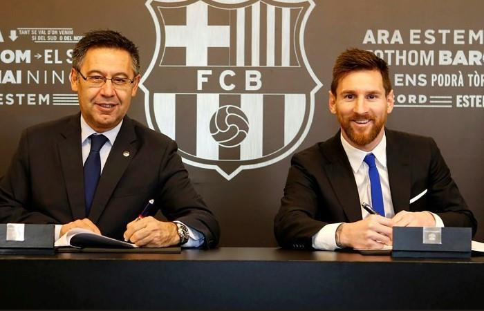 Bartomeu confía en que Messi seguirá en Barcelona hasta el final de su carrera. Foto: AFP